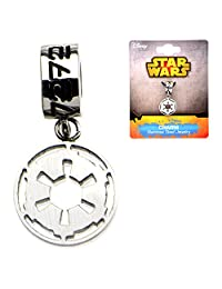 Stainless Steel Star Wars Galactic Empire Symbol Dangle Charm