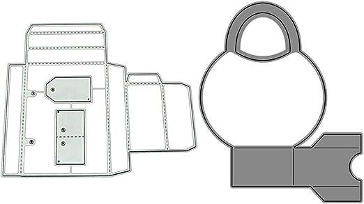 Fewxdsad Caja de Regalo Troqueles de Corte Esténcil Scrapbooking ...