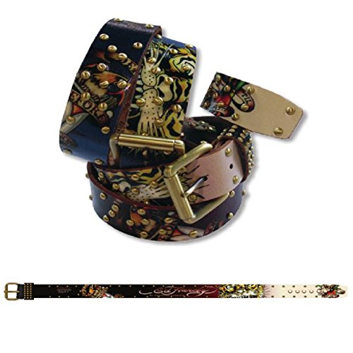 Ed Hardy EH1233 Eagle Dagger-Tiger Kids-Boys Leather Belt - (Ed Hardy Fashion Belt)