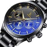Bestn Men's Self-Wind Wristwatches Date/Week/24 Hours Moon-Phase Auto Mechanical Watch