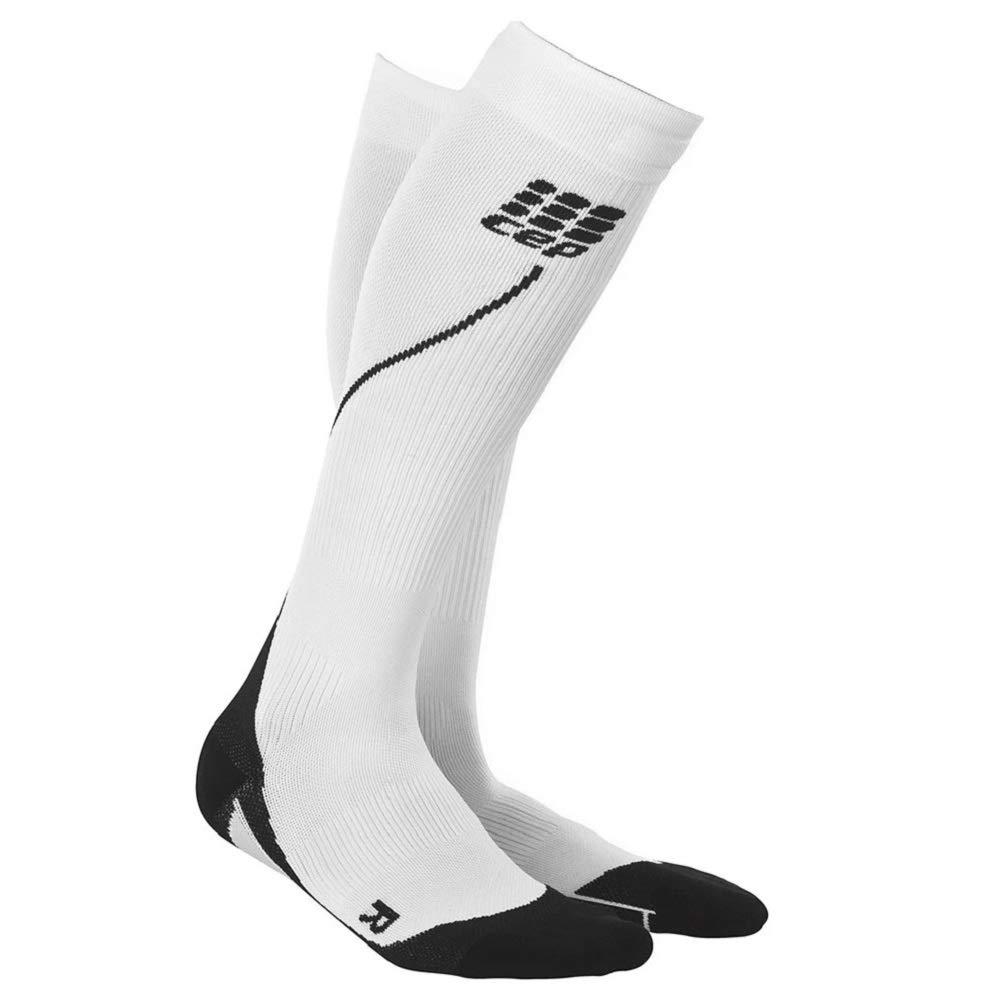CEP Women's Progressive+ Run Socks 2.0, White/Black, 4 by CEP