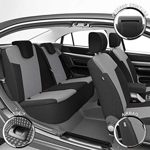 DBS Housse de si/ège Auto//Voiture Compatible Airbag Finition Haut de Gamme 1010454 sur Mesure Isofix Montage Rapide