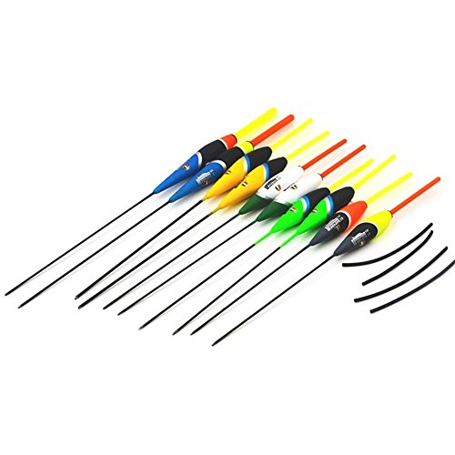 Carp Fishing Float - VGEBY 10Pcs Colorful Fishing Floats Balsa Wood Float Fishing Bobbers Set Fishing Tackle Tools