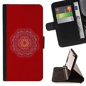 For Samsung Galaxy S5 V SM-G900 Case , Mal Arte Red Witch Atom- la tarjeta de Crédito Slots PU Funda de cuero Monedero caso cubierta de piel