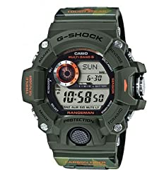 Casio G-Shock Men in Camouflage Digital Resin Quartz Men's Watch GW-9400CMJ-3
