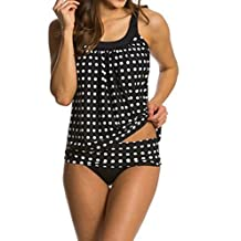 Crazycatz@ Women Two piece Swimwear Tankini Sets Swimsuit Top+Bottom