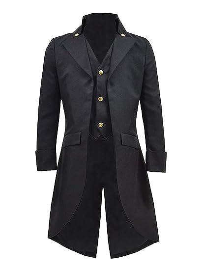 Amazon.com: Pxmoda (Improved Mens Steampunk Vintage Tailcoat Jacket Gothic Victorian Frock Coat Uniform Costume: Clothing