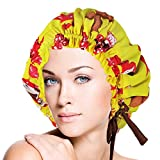 Adjustable Double Layers Silk Sleep Cap Night Cap Head Cover Bonnet for Hair Beauty Fits head sizes: 20.5''-28.3'' (52-72cm)