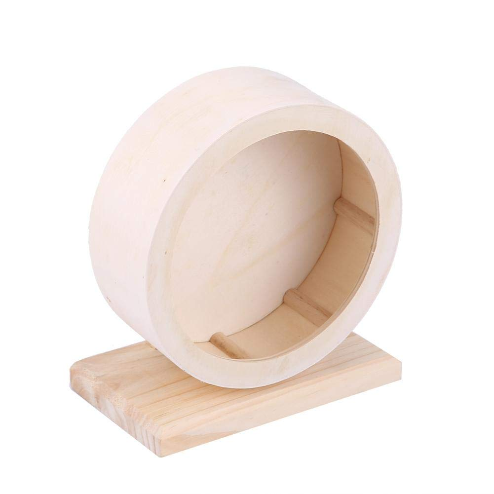 HEEPDD Hamster Wheel, Wooden Exercise Wheel Pets Funny Running Wheel Rest House Nest Play Toy for Gerbils Chinchillas Hedgehogs Mice Other Small Animals(S)