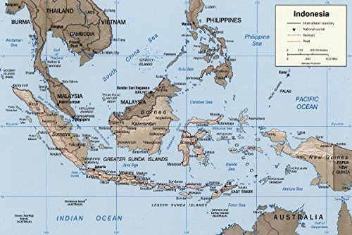 Gifts Delight LAMINATED 35x24 Poster Indonesia 2002 CIA map.png by Gifts Delight