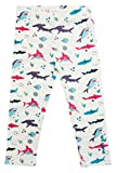 Smarty Girl Organic Toddler Leggings 12M-5Y | Empowering Science and STEM Organic Pants | Sharks 2T