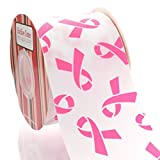 3'' Pink Cancer Awareness Grosgrain Ribbon 100 Yard