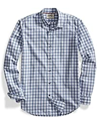 Amazon Brand - Goodthreads Men's Standard-Fit Long-Sleeve Gingham Plaid Poplin Shirt