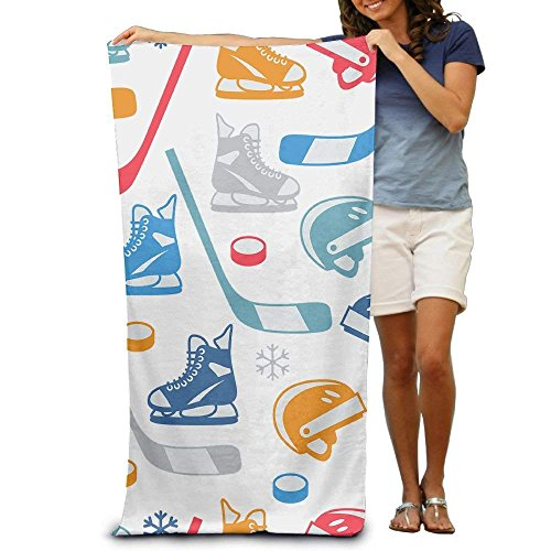 2019 pants Bath Towel Ice Hockey Elements Creative Patterned Soft Beach Towel 31