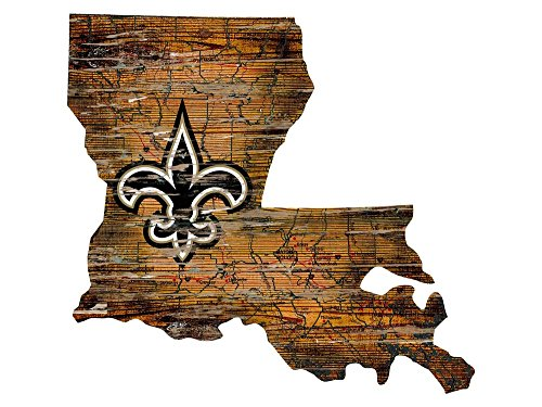 - Fan Creations New Orleans Saints State Shape Sign, Multi