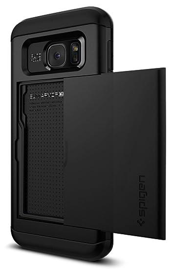 super popular 83ef9 b83e7 Spigen Slim Armor CS Galaxy S7 Edge Case with Slim Dual Layer Wallet Design  and Card Slot Holder for Galaxy S7 Edge - Black