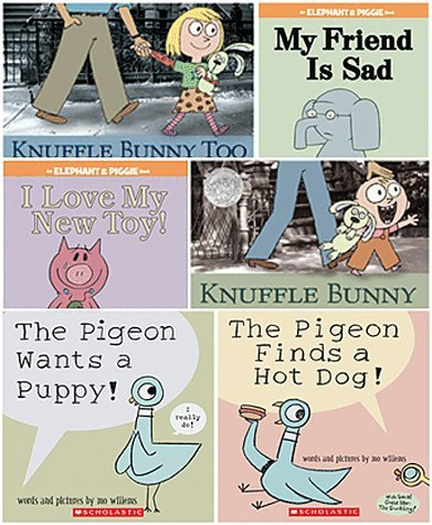 Mo Willems Set of 6 Paperback Books Includes Knuffle Bunny: A Cautionary Tale, Elephant & Piggie: My Friend Is Sad, Knuffle Bunny Too: A Case of Mistaken Identity, the Pigeon Finds a Hot Dog, the Pigeon Wants a Puppy!, I Love My New Toy! (The Pigeon Wants A Hot Dog compare prices)