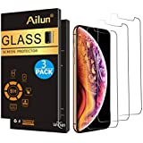 Ailun Screen Protector Compatible with iPhone Xs, iPhone X, iPhone 10,[3 Pack],2.5D Edge Tempered Glass Compatible with iPhone X/10/Xs[5.8inch],Anti-Scratch,Advanced HD Clarity Work Most Case