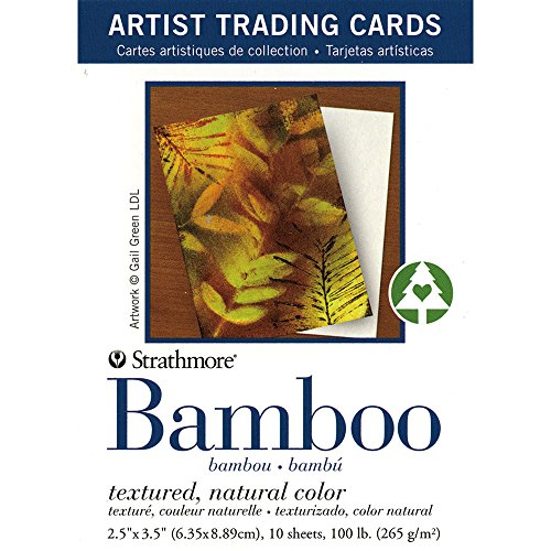 Strathmore Artist Trading Cards, Textured Bamboo, 2.5 X 3.5 inches, Package of 10 (105-913)