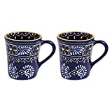 Mexican Themed Coffee Mugs - Hand Painted and Custom Made Traditional Mexican Pottery - Bright, Colorful, Lead Free and Superior quality