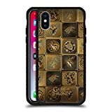 Official HBO Game of Thrones All Houses Golden Sigils Black Armour Lite Case Compatible for iPhone X/iPhone Xs