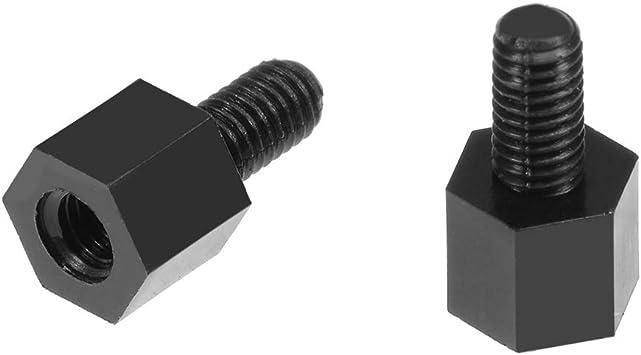 uxcell 100pcs M3 5 6mm Male Female Thread Nylon Hex Standoff Spacer Screws PCB Pillar Black