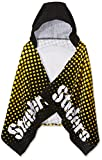 NFL Pittsburgh Steelers 22″ x 51″ Youth Hooded Beach Towel,22-Inch by 51-Inch,Black