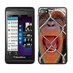 Paccase / SLIM PC / Aliminium Casa Carcasa Funda Case Cover para - The Chimpanzee - Blackberry Z10