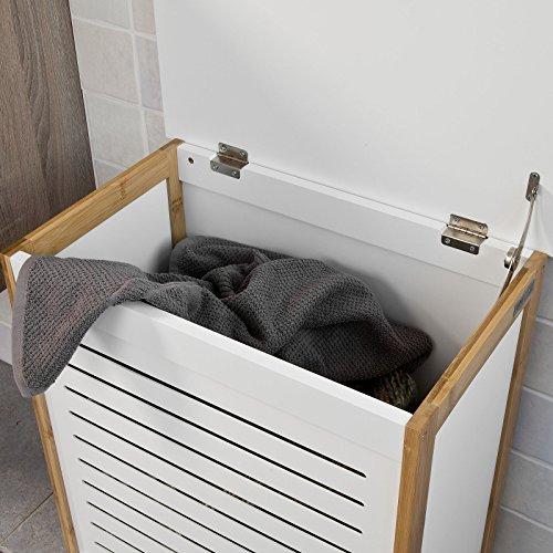 Coffre salle de bain sobuy fsswn corbeille linge coffre for Becquet banc