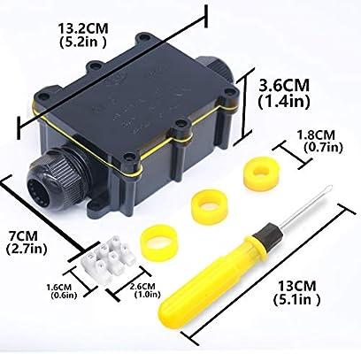 Cajas de Empalmes,IP68 Caja de Conexiones Impermeable Eléctricas ...