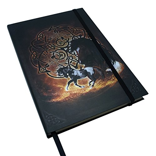 Brigid Ashwood Zodiac Celtic Horse Plain Blank Paper Journal With Bookmark Strip 6