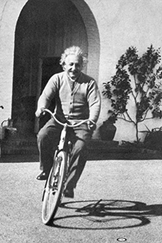 rt Einstein-Bicycle Riding, Celebrity Poster Print, 24 by 36-Inch ()