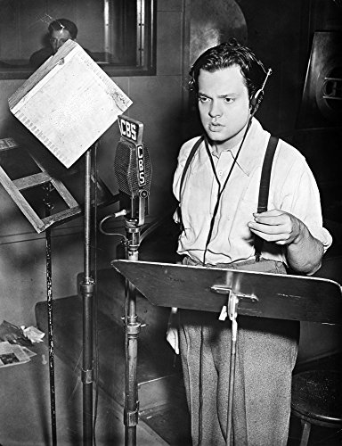 Orson Welles (1915-1985) Namerican Director Producer Screenwriter And Actor Shown Broadcasting His Famous Adaptation Of HG Wells Novel The War Of The Worlds 30 October 1938 Poster Print by (18 x 24) ()