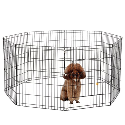 Ollieroo Dog Playpen Exercise Pen Cat Fence Pet Outdoor