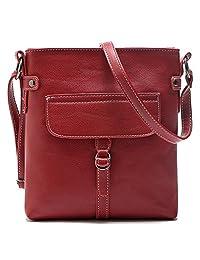 Tibes Women Faux Leather Messenger Bag Casual Crossbody Purse Bag