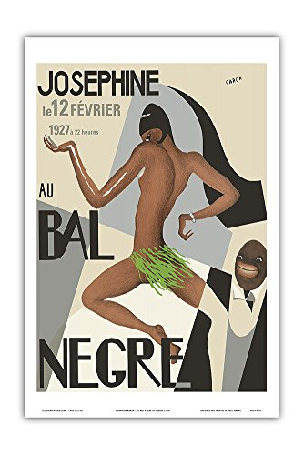 Josephine Baker - Au Bal Negra (The Black Ball) - le 12 Février 1927 (February 12, 1927) - Vintage World Travel Poster by Caron c.1927 - Master Art Print - ()