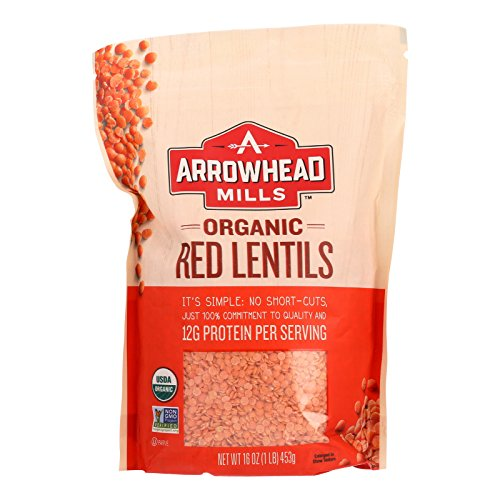 Arrowhead Mills Organic Red Lentils - Case of 6 - 16 oz. by Unknown