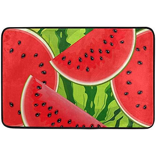 Starowas Watermelon Slices Doormat,Fruit Door mat Area Rug for Bedroom Front Door Kitchen Indoors Home Decors 23.6x15.7 inches (Rug Watermelon Slice)