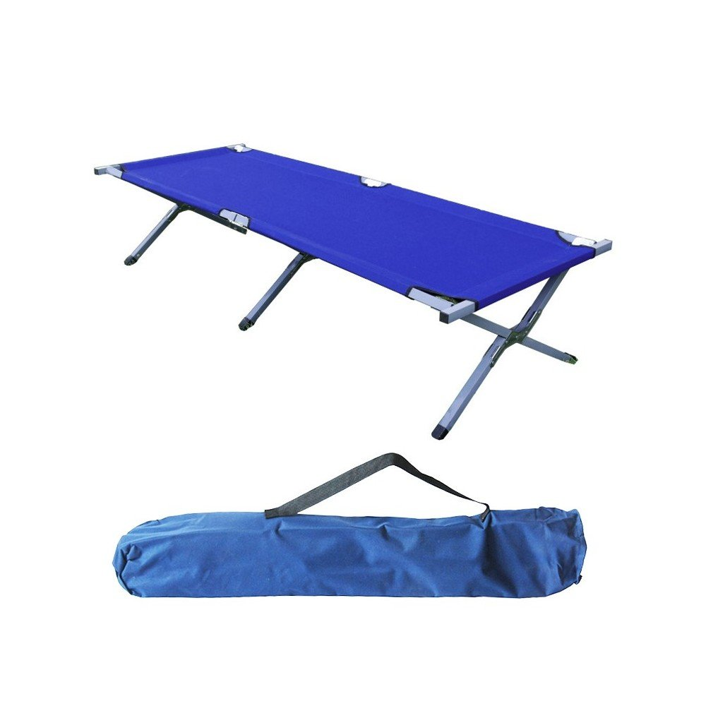 Maxy - Cama plegable (190 cm), color azul oscuro Iso Trade