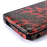 GAMETECH 3DS XL Hard Cover -Crocodile skin pattern- Red