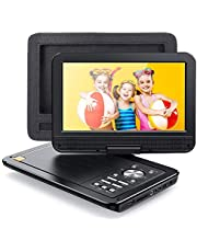 "APEMAN 2021 Upgrade 12.5"" Portable DVD Player with 10.5"" HD Swivel Screen, 6 Hour Rechargeable Battery for Car/Kids, Car Headrest Mount Case, Support USB/SD Card/Sync TV and Multiple Disc Formats"