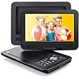 "APEMAN 12.5"" Portable DVD Player for Car/Kids, 10.5"" HD Swivel Screen with 6 Hour Rechargeable Battery, Car Headrest Mount Case, Support USB/SD Card/Sync TV and Multiple Disc Formats"