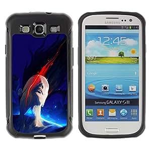 """Pulsar iFace Series Tpu silicona Carcasa Funda Case para Samsung Galaxy S3 III I9300 , Pintura abstracta azul minimalista"""""""