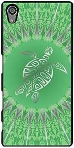 Funda para Sony Xperia Z5 - Animales Tortuga Verde Plata by Nina Baydur