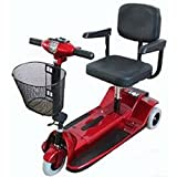 Zip'r Mobility - Xtra Traveler - Travel Scooter - 3-Wheel - 16W x 14D - Red - PHILLIPS POWER PACKAGE TM - TO $500 VALUE