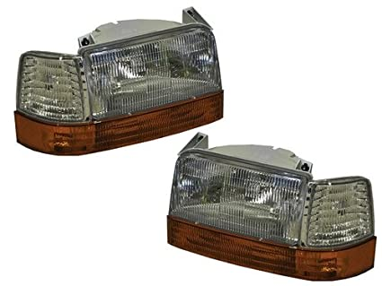 Rexhall Aerbus 1995-1999 6 Piece Replacement Front Headlight Corner Lights  Signal Lights