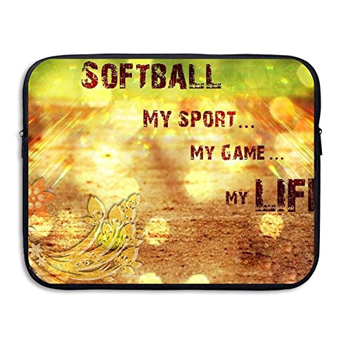 Water-resistant Laptop Bags Softball My Game Ultrabook Briefcase Sleeve Case Bags 15 Inch by Yuotry