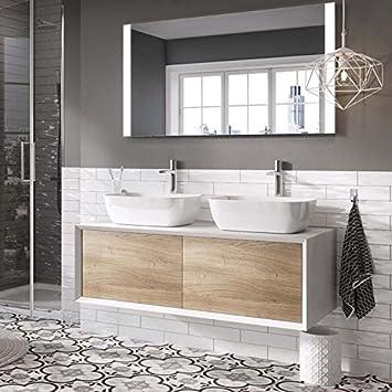 premium selection bc149 83964 The Bath People Dali Wall Mounted Bathroom Vanity Unit Gloss ...