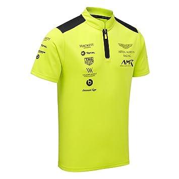 Aston Martin Racing Team Polo Shirt Lime Green ADULT Amazonco - Aston martin shirt