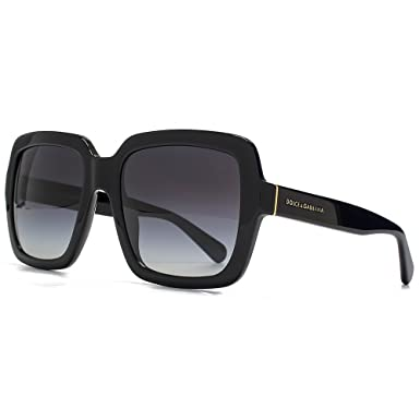 031328f0ba468e Dolce   Gabbana Lunettes de soleil carré contemporain en noir DG4273 501 8G  55 55